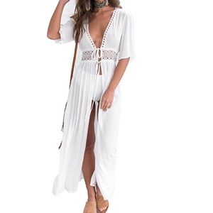 ❗️RESTOCKED ❗️Cardigan Lace  Maxi Cover Up/Dress